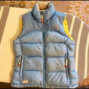 The North Face down puffy vest